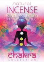 INCENSE 7 Sorten inkl. Holzhalterung - CD - Raeucherstaebchen Chakra Collection