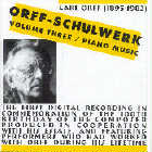 Nikolaus Lahusen - CD - Orff-Schulwerk Vol. 3: Piano Music